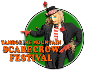 Events Tamborine, Scarecrow building, buskers and street entertainment, kids fun
