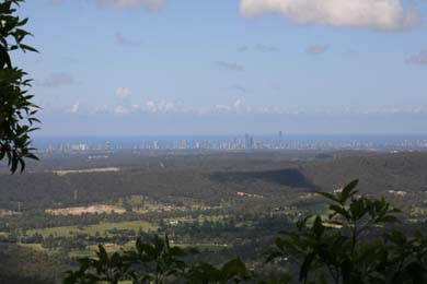 Lookout, Tamborine. Gold Coast, Views, skyline