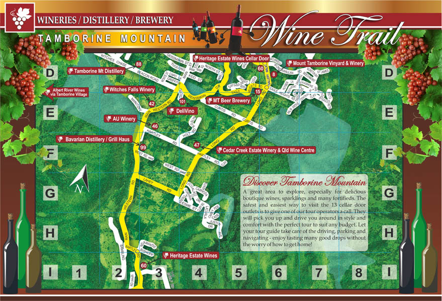 Wine Trail Map, Tastings, Cellar Door Outlet, Winery Restaurant, Verdhelo