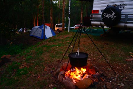 Caravan and Camping Tamborine National Park, Creek side camping