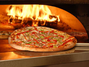 Restaurants Tambourine Mtn, Wood fired Pizza oven, Lunchmenu