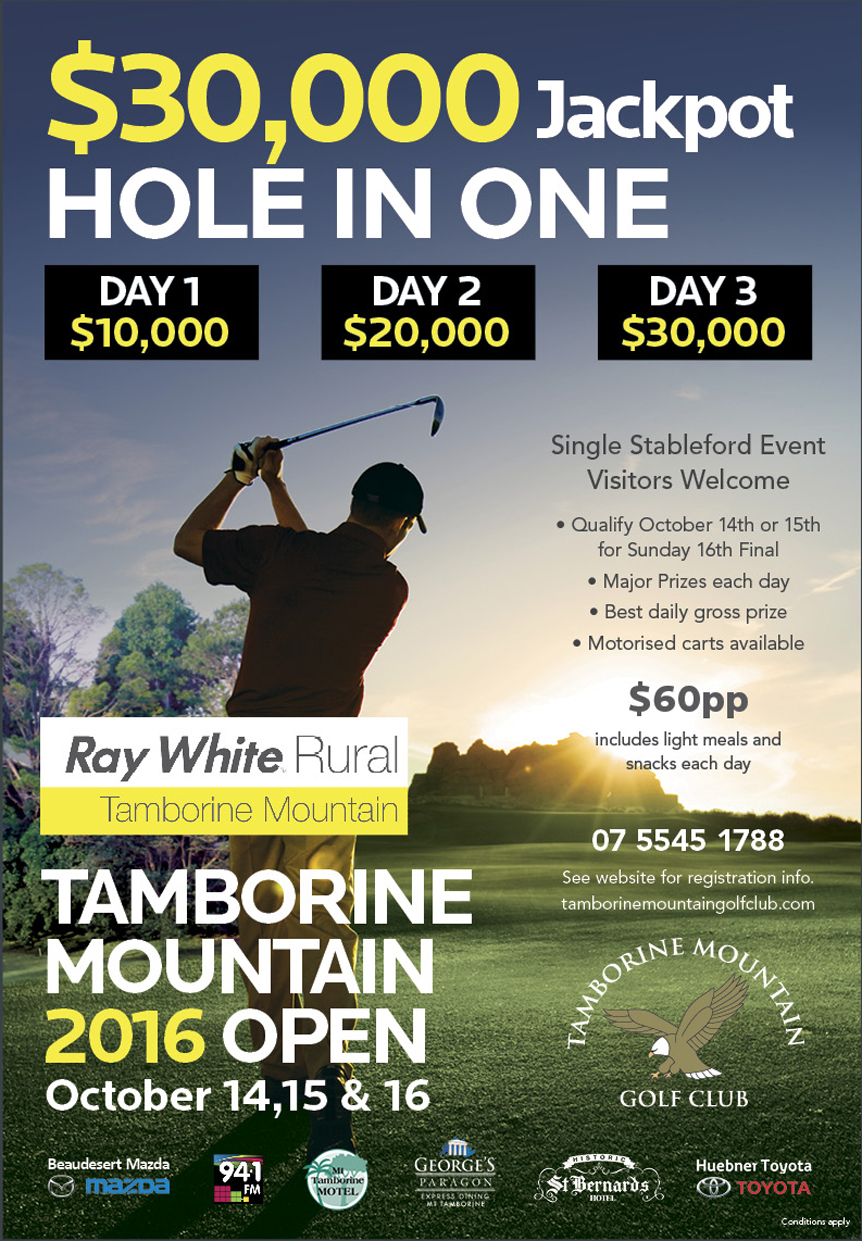 Golf Event, Open, Hole in one, Tamborine Mountain Hotels