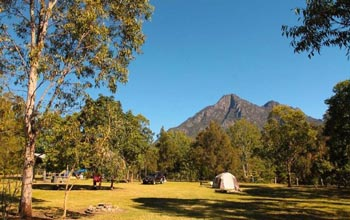 Camping Scenic Rim, Mt Bareny Lodges, Creekside Campsite