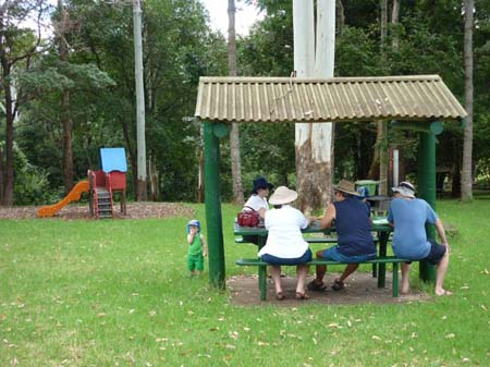 Family Picnic Tamborine, Playground, swing, food on the go