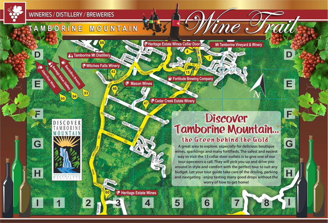 Wine Trail, Tamborine Mountain, Cellar Doors, Winery Tours