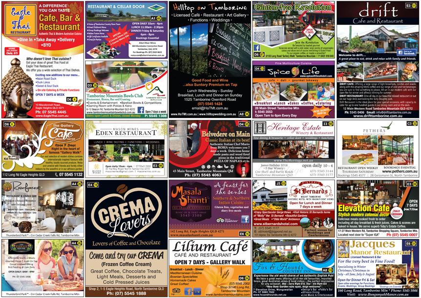 Restaurant Guide, Tamborine Mountain Pizza, Italian Cuisine, Indian Restaurant Tamborine