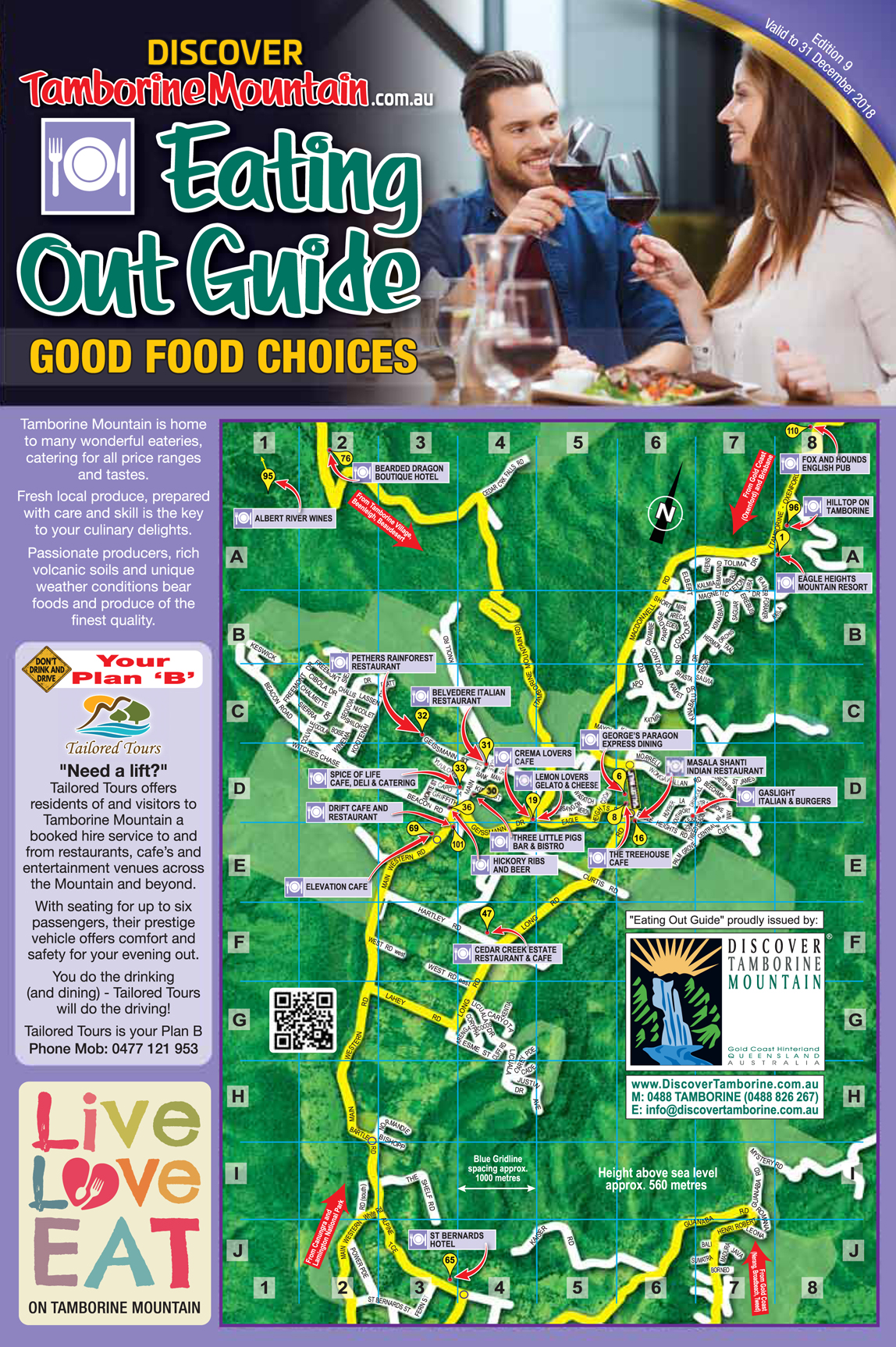 Eating Out Guide, Good Food Tamborine Mountain