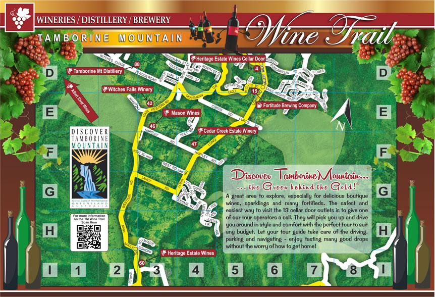 Wine Trail Map, Tastings, Cellar Door Outlet, Winery Restaurant