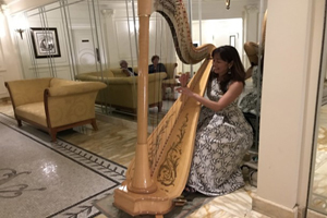 Naomi Terashima, Harpist, Tamborine Weddings