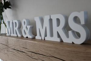 Wooden Letter Words, Tamborine Weddings, Table Decorations, Centerpiece