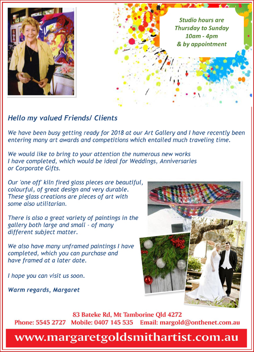 Gallery, Artists Studio, Margareat Goldsmith