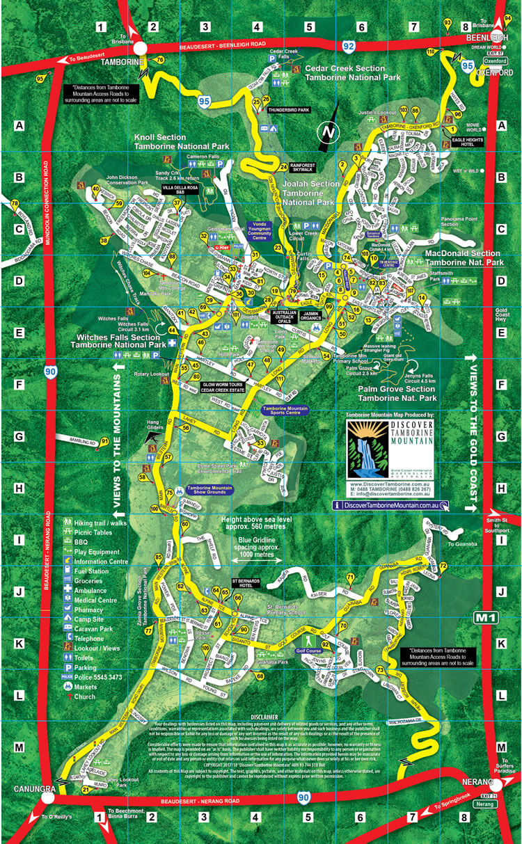 Mount Tamborine map