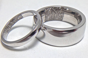 Lifestyle designs, Wedding Jewellery, Rings, Fingerprint Engraving