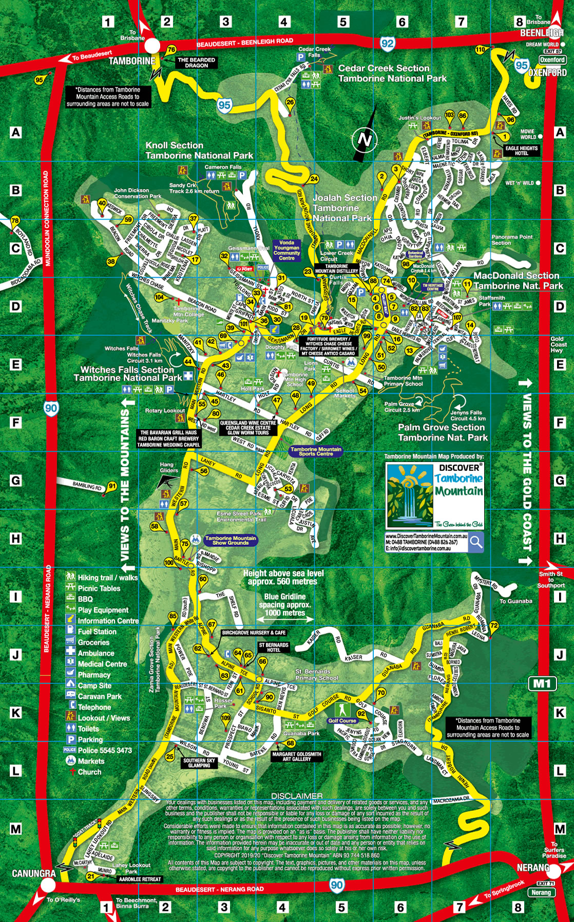 Tamborine Mountain Map