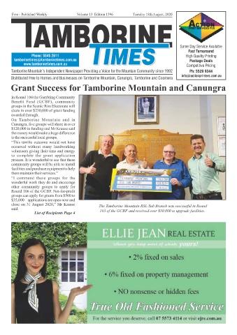 Tamborine Times August 2020