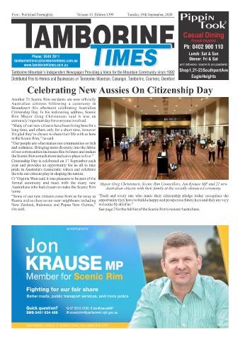 Tamborine Times Sept 29 2020